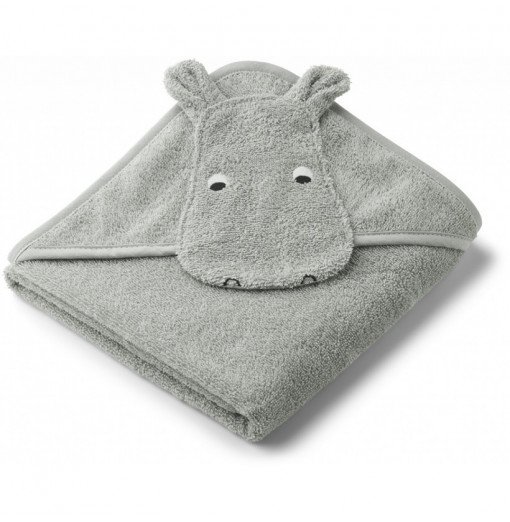 Toalla bebé Hippo Dove Blue...