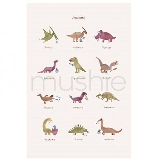 Lámina Dinosaurios - Mushie