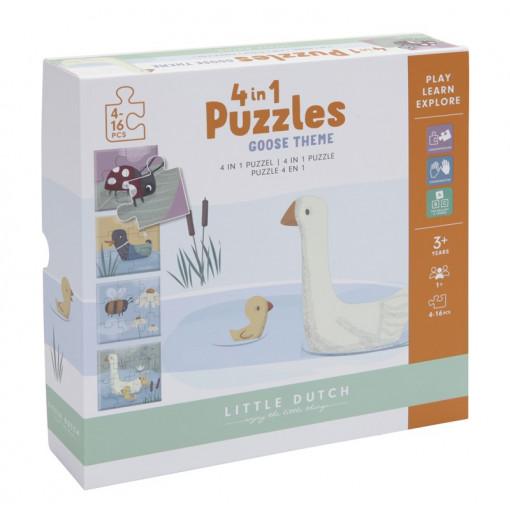 Puzzle ocas 4 en 1- Little...