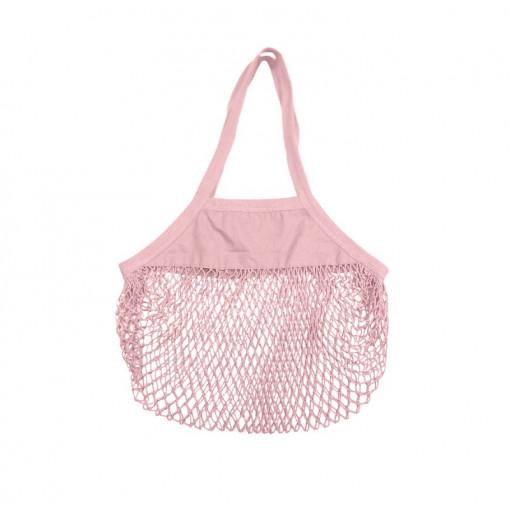 Bolsa de malla orgánica - rosa