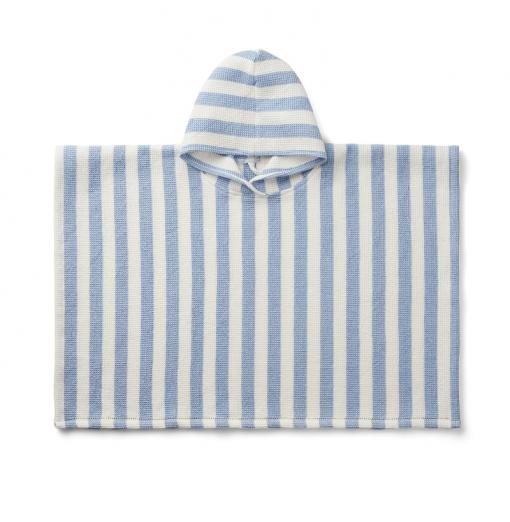 Poncho Blue Stripe  - Liewood