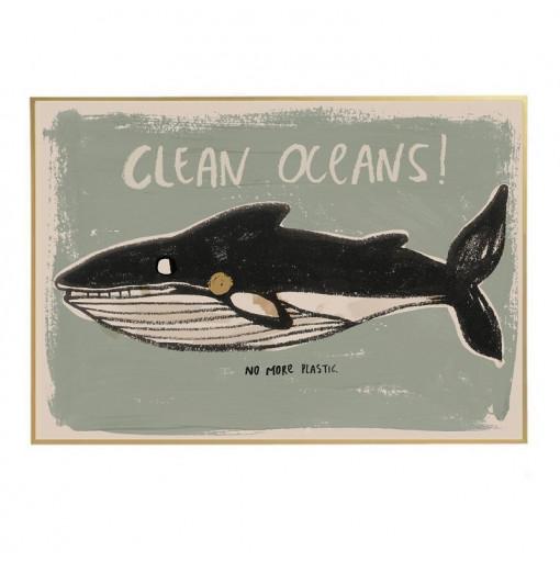 Póster Clean Oceans -...