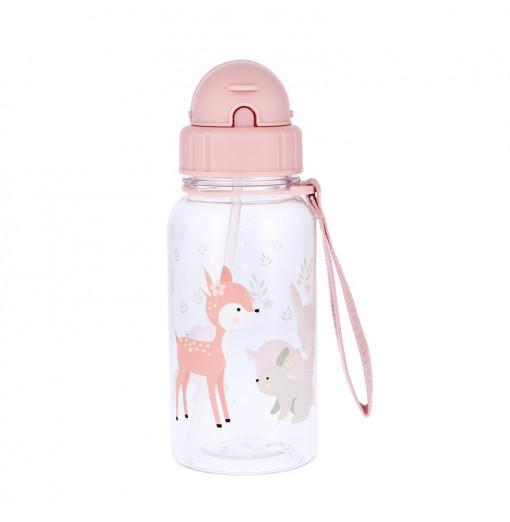 Botella con pajita Sweet Deer