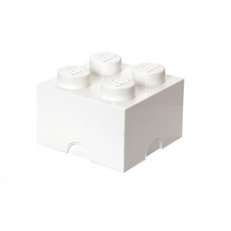 Caja de almacenaje LEGO 4 blanca