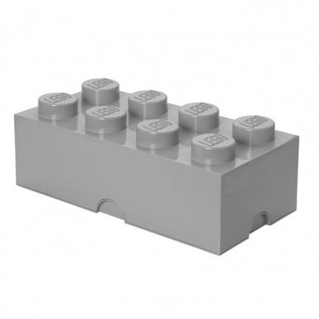 Caja de almacenaje LEGO 8 gris