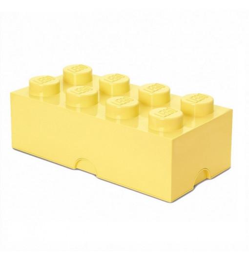 Caja de almacenaje LEGO 8 amarillo claro