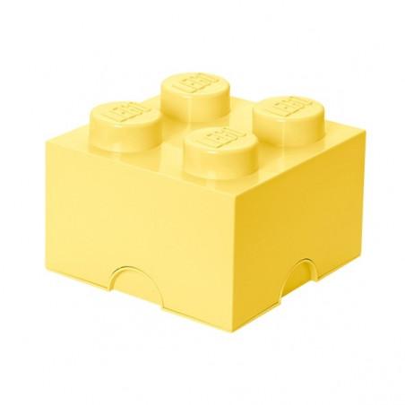 Caja de almacenaje LEGO 4 amarilla
