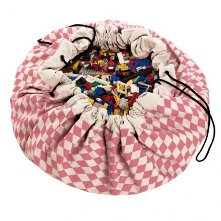 Saco de almacenaje Diamond rosa - Play & Go