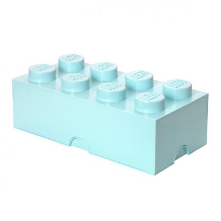 Caja de almacenaje LEGO 8 aqua