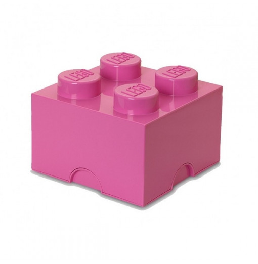 Caja de almacenaje LEGO 4 rosa