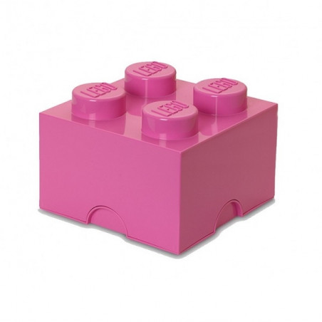 Caja de almacenaje LEGO 4 bright pink