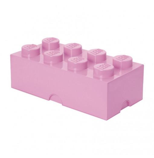 Caja de almacenaje LEGO 8 rosa