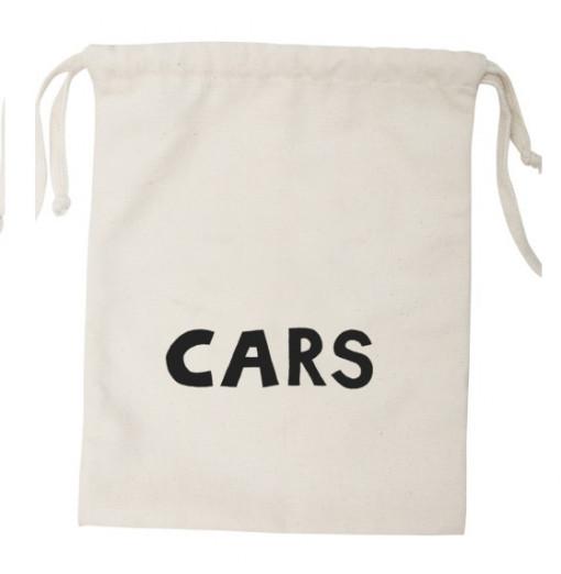"""Bolsa de almacenaje """"Cars""""  pequeña en tela - Tellkiddo"""