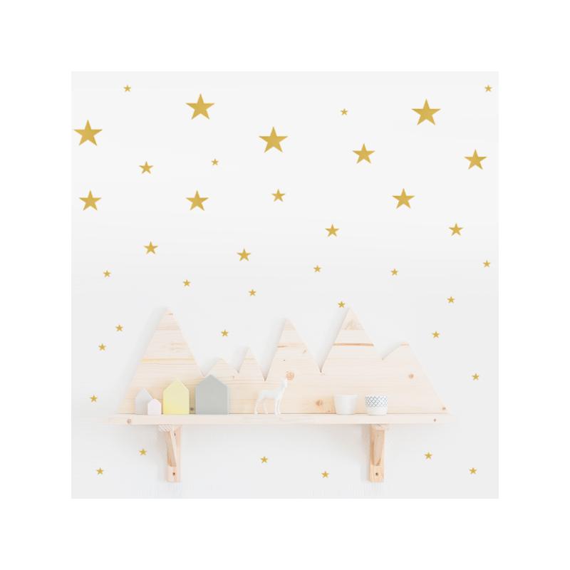 Vinilo estrellas doradas