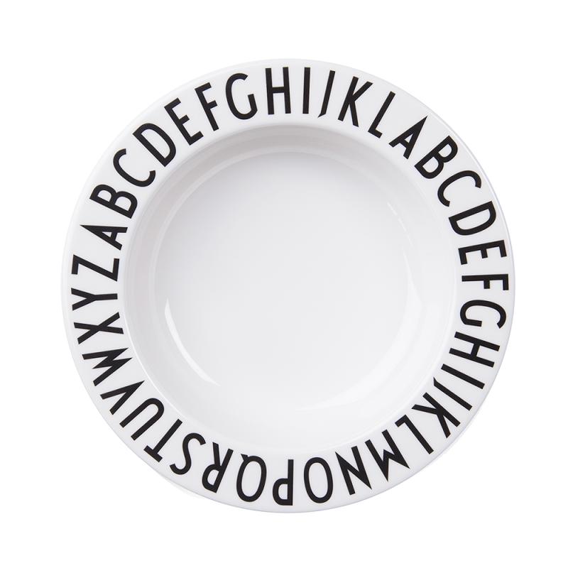 Plato hondo de melamina - Design Letters