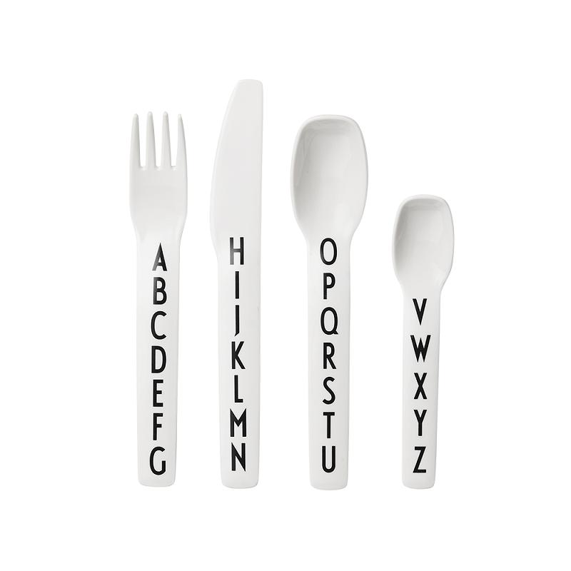 Set de cubiertos melamina - Design Letters