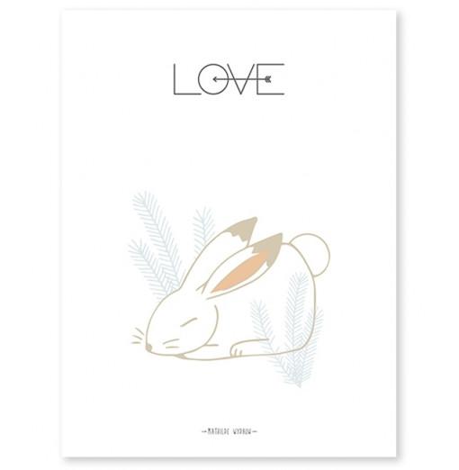 Lámina Conejito Love