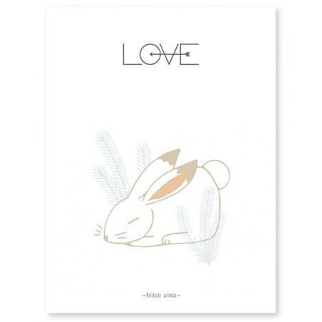 Lámina Conejito Love - Llipinso
