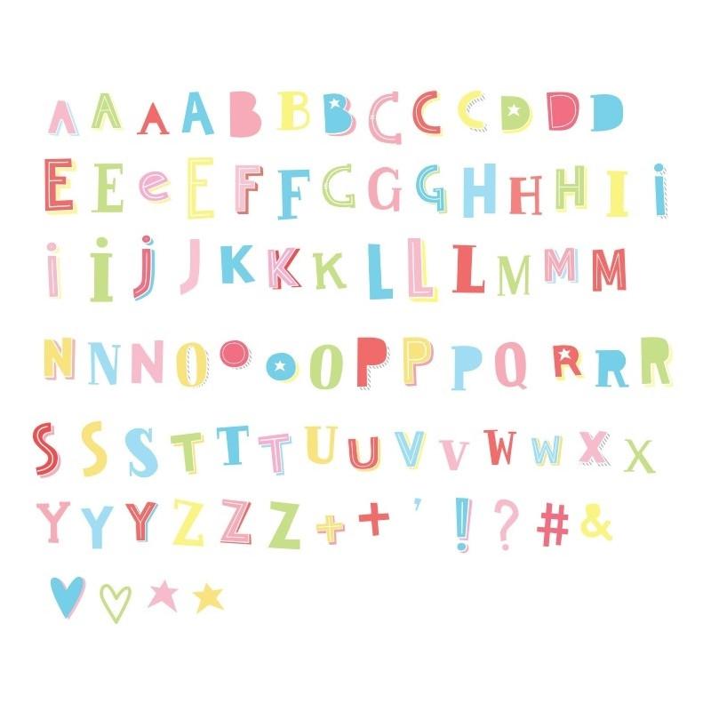 Set de letras Funky colour para el lighbox