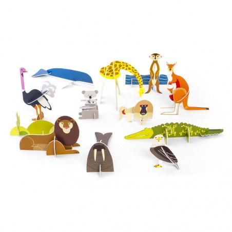 Animales salvajes de cartón - Studio Roof