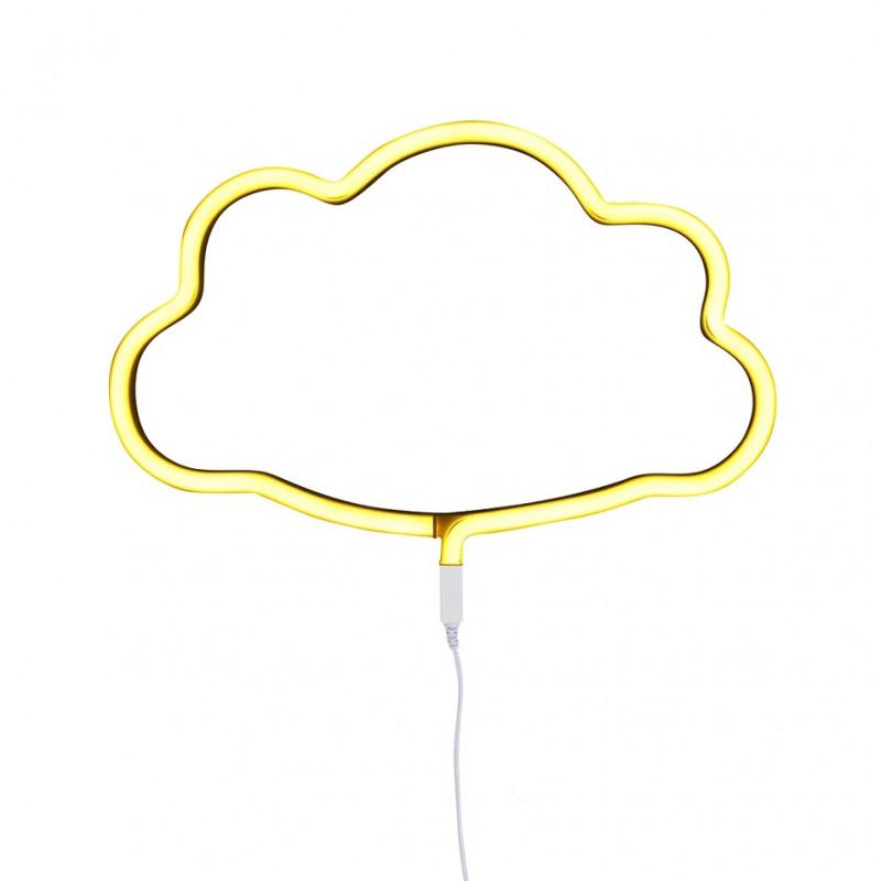 Luz led estilo neón en forma de nube
