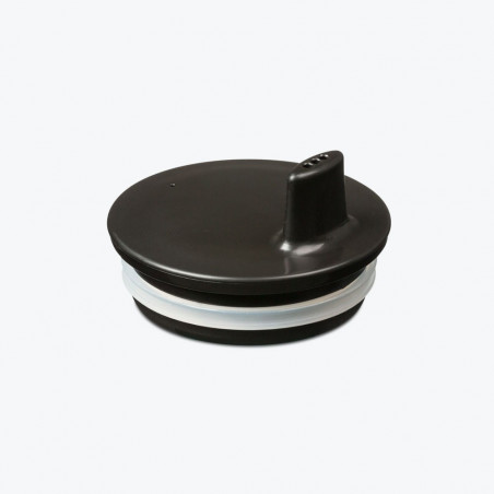 Tapa con boquilla negra para vaso melamina Design Letters