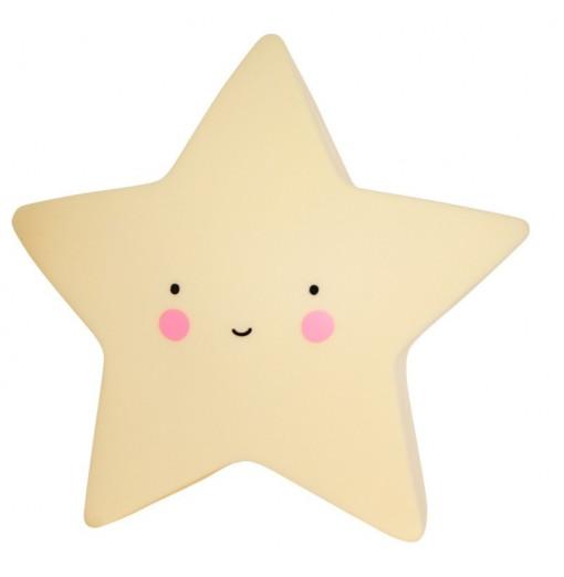 Luz quitamiedos estrella amarilla - A Little Lovely Company