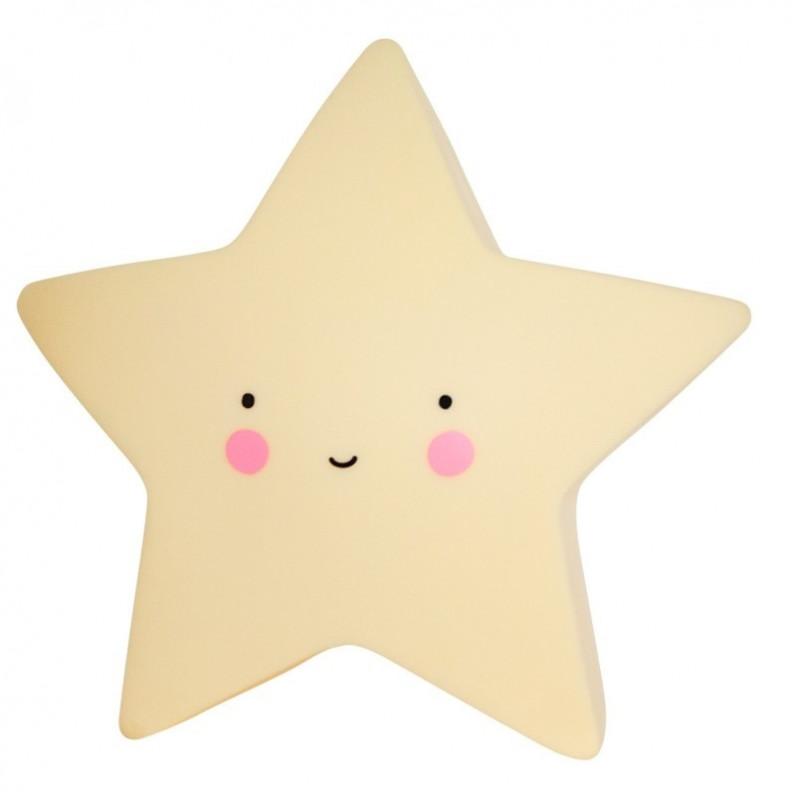 Luz quitamiedos estrella amarilla