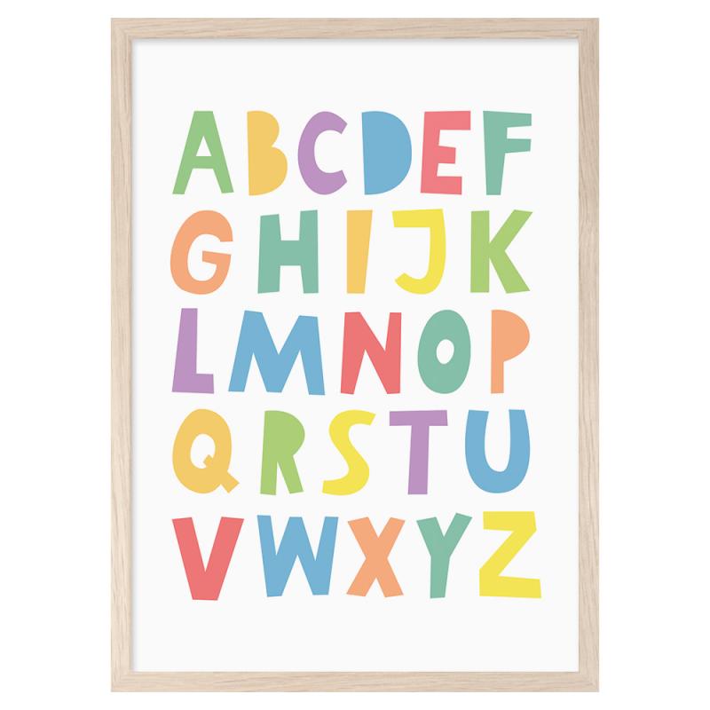 Lámina Rainbow Abc - Mini Learners