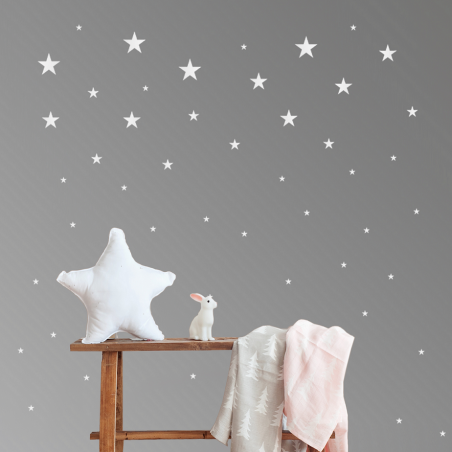 Vinilo estrellas blancas