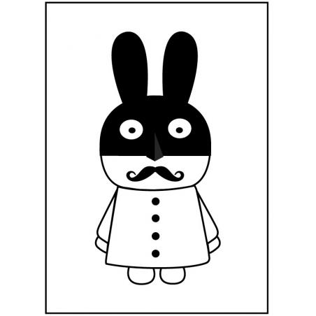 "Póster ""Mr.Rabman"" de MiniWilla"
