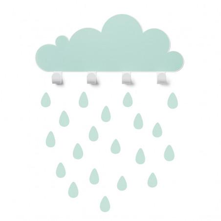 Colgador nube mint con gotas de lluvia - Tresxics