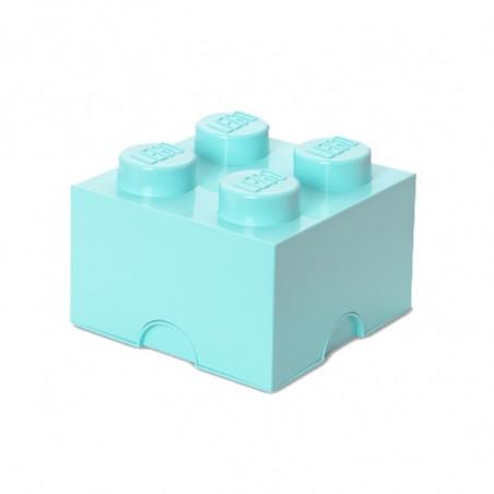 Caja de almacenaje LEGO 4 aqua