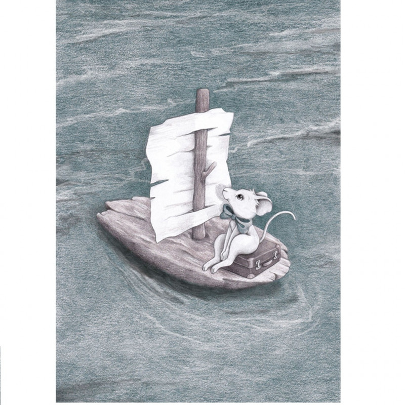 "Vinilo ""The mouse and the bark boat"" A4 - Stickstay"