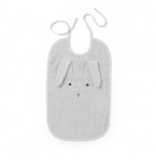 Babero Rabbit Dumbo Grey - Liewood