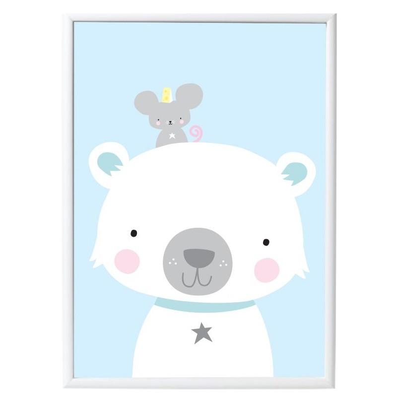 Póster oso polar & Co. - A Little Lovely Company