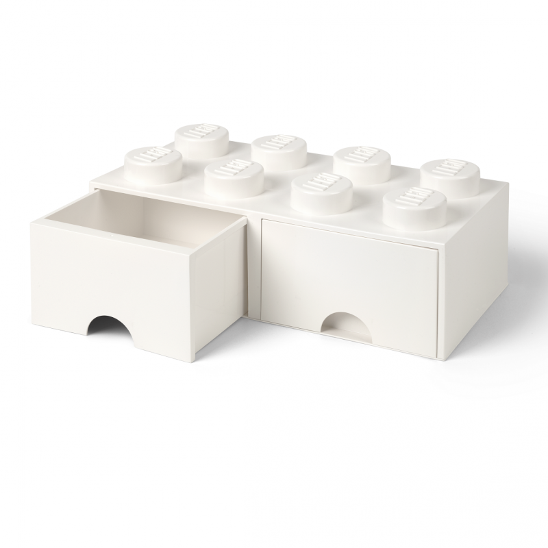 Caja de alamacenaje lego blanca con cajones - Cajas de almacenaje ...