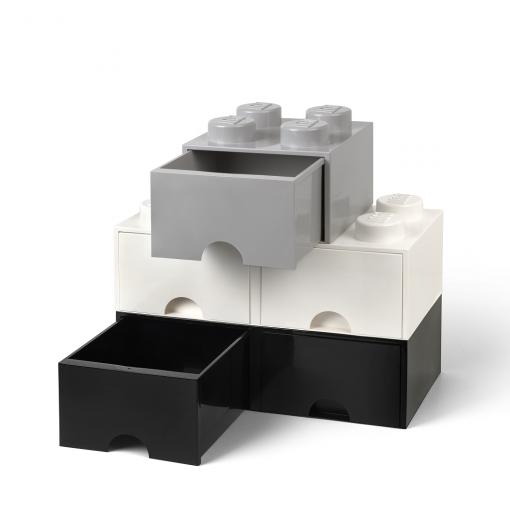 Caja de almacenaje LEGO 4 con cajón - blanca