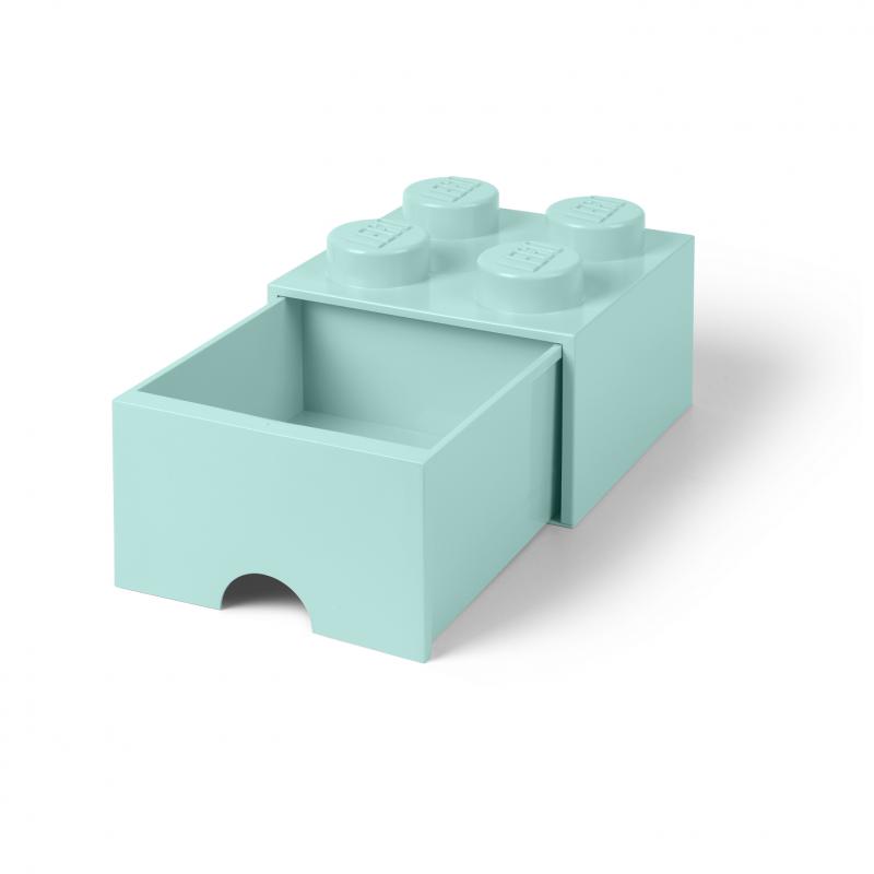 Caja de almacenaje LEGO 4 con cajón - aqua