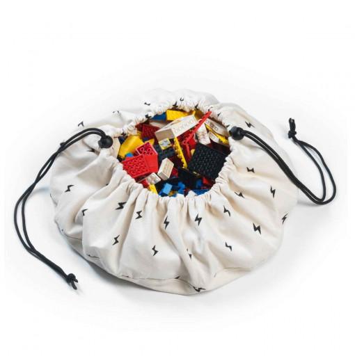 Saco de almacenaje mini rayos negros - Play & Go