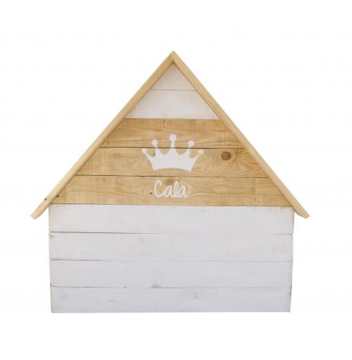Cabecero casita con nombre y corona - Varios colores