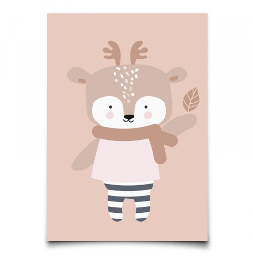 "Postal ""Winter Deer"""