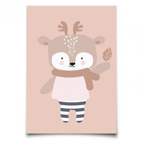 """Postal """"Winter Deer"""""""