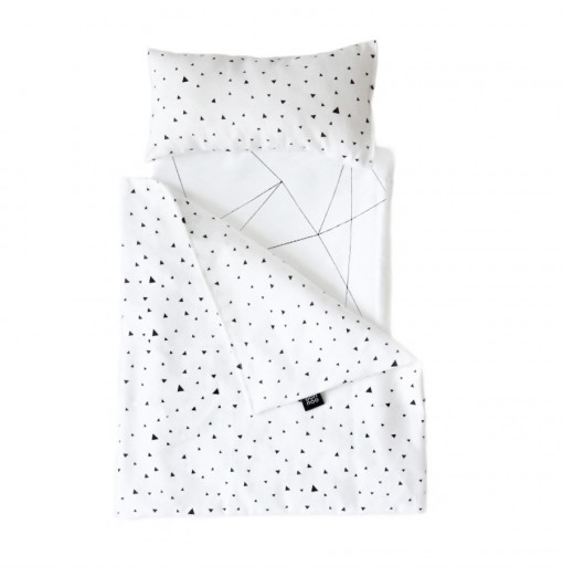 Toy pram Bedding Tiny Triangles - Ooh noo