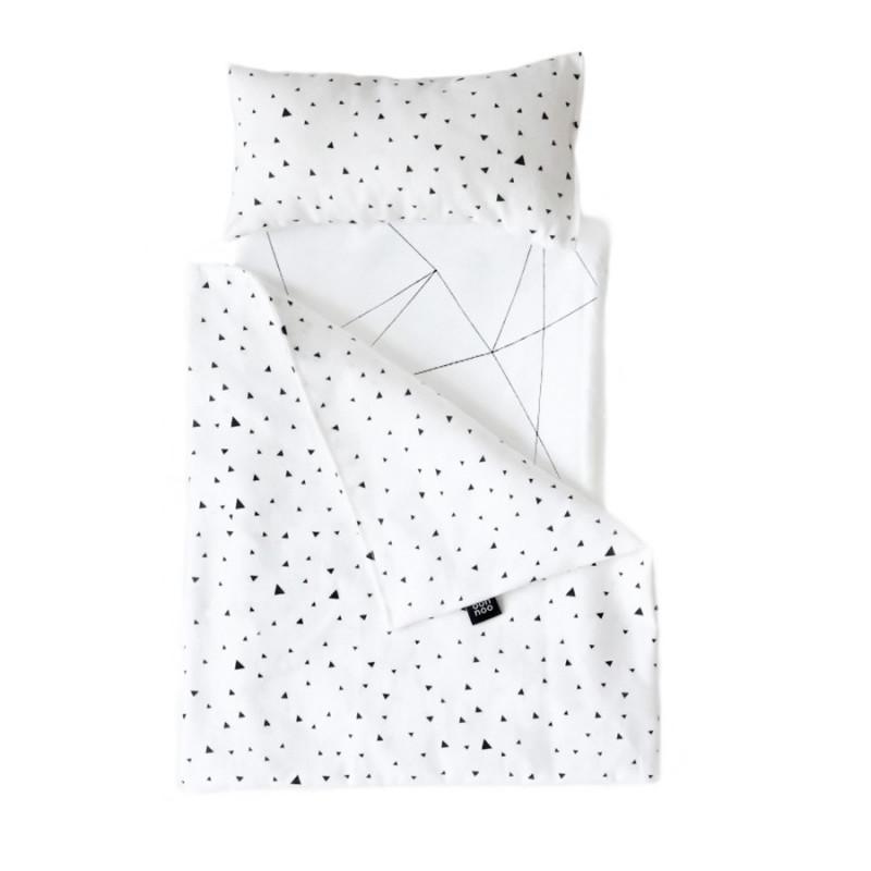 Toy pram Bedding Tiny Triangles - Ooh noo
