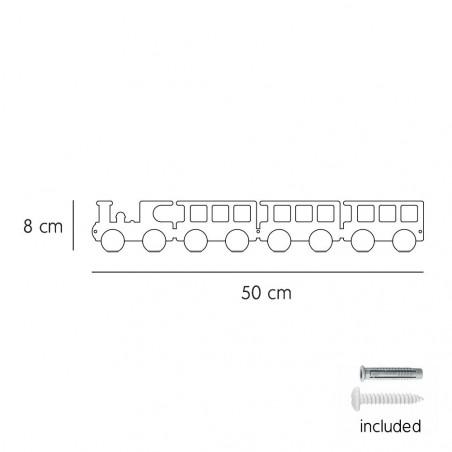 Colgador tren blanco - Tresxics