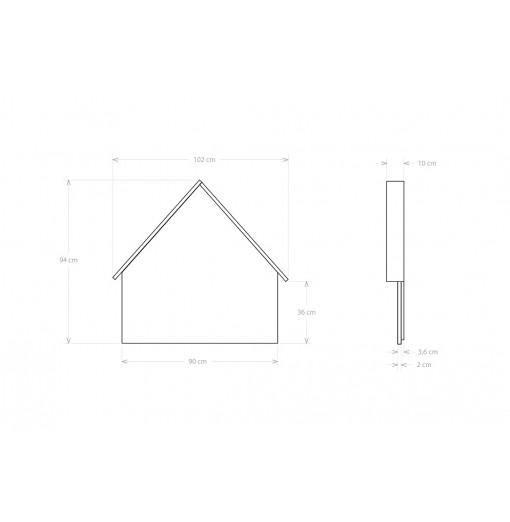 Cabecero casita - Gris