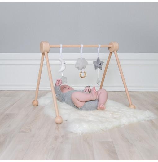 Gimnasio de bebé de madera - Jabadabado