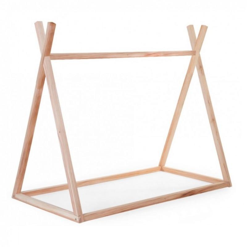 Estructura de cama Tipi de madera - 70 x 140 cm