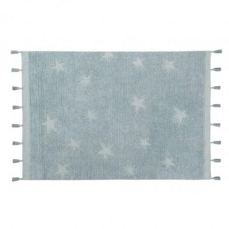 Alfombra Hippy Stars Aqua blue - Lorena Canals